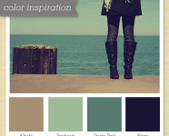 Khaki, Sea Foam, Dusty Teal and Navy Color Palette 4