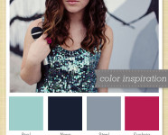 Teal, Navy, Gray and Pink Color Palette 17