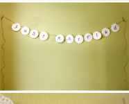 DIY Doily Just Married Banner