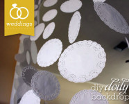 DIY Doily Wedding Backdrop Banner