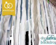 DIY Fabric Wedding Banner Backdrop