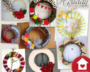 Holiday Yarn Wreaths