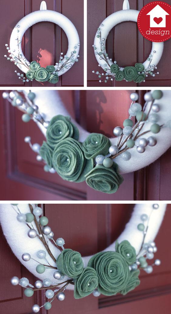 My diy yarn and felt wreaths