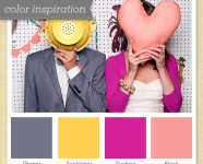 Gray, Yellow and Pink Color Palette 39