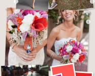 Red, Coral, and Fuchsia Wedding Board
