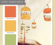 Orange, Yellow and Green Color Palette 50