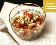 Chickpea Tomato and Feta Salad