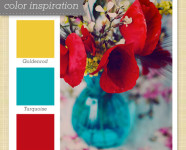 Yellow, Blue and Red Color Palette