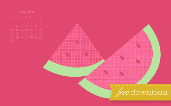 July Calendar Free Desktop Wallpaper Picture - Sarah Hearts