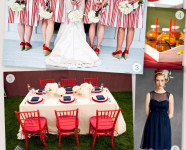 Red White and Blue Wedding Inspiration Board