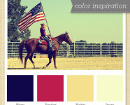 Navy, Red, Yellow and White Color Palette
