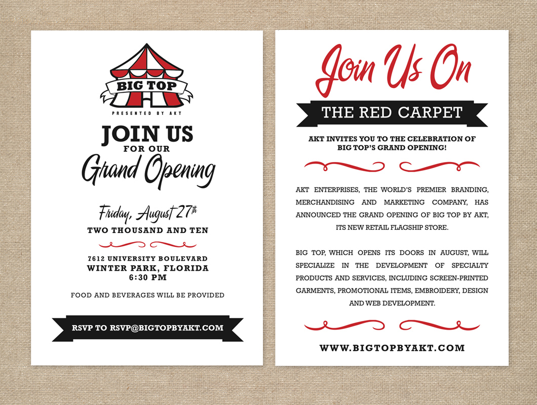 Design Sarah Hearts – Grand Opening Party Invitations