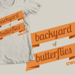 """Backyard of Butterflies"" shirt design for Owl City"