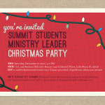 Retro inspired Christmas party invitation