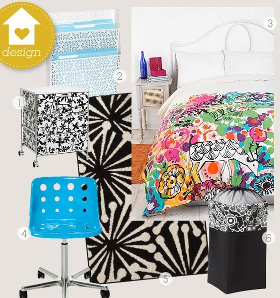 Sarah Hearts - Dorm Room Decorating Ideas