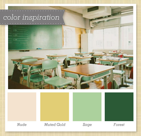 green gold and ivory color palette
