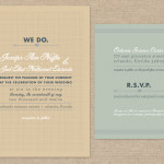 Simple rustic wedding invitation and RSVP card
