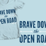 """Brave Down the Open Road"" shirt design for Owl City"
