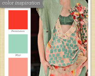 Red, Pink and Mint Green Color Palette