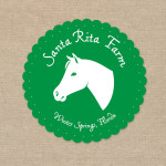 Canned goods label for Santa Rita Farm