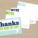 Daily thank you note cards