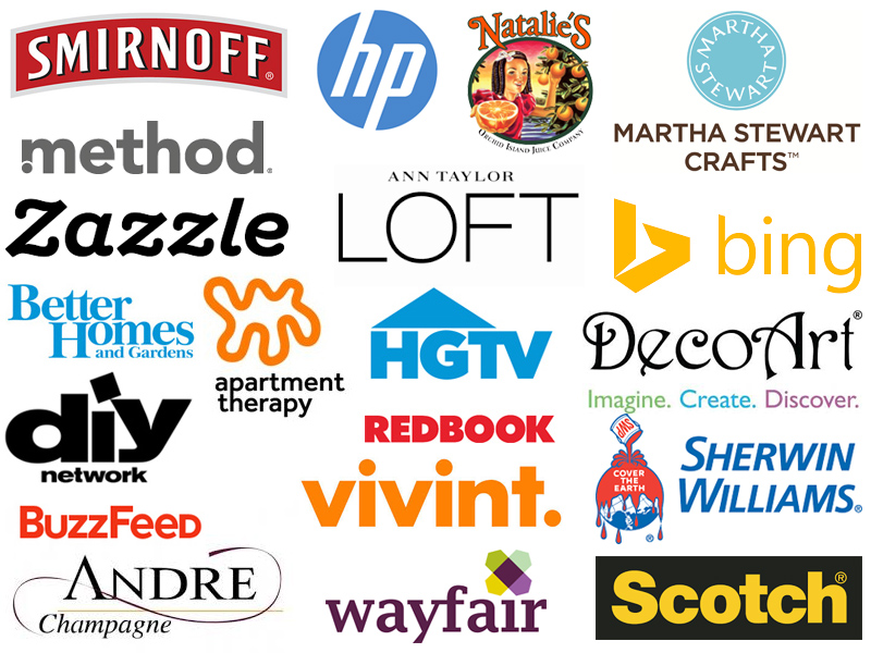 Here are just some of the brands Sarah has partnered with!