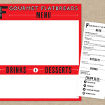 The Flattery flatbread food truck menu board and printable menu