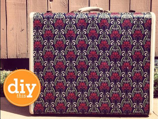holydays diy project customiser une ancienne valise cocon d co vie nomade. Black Bedroom Furniture Sets. Home Design Ideas