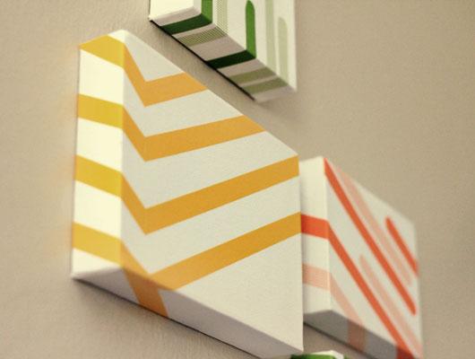 Washi tape wall art sarah hearts for Washi tape wall art