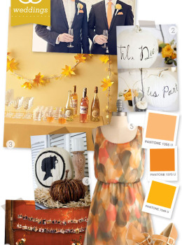 fall wedding idea board
