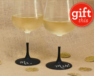 DIY Chalkboard Wine Glasses