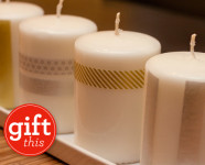 DIY Handmade Gifts :: Washi Tape Candles