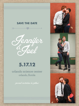 Modern vintage inspired photo save the date card