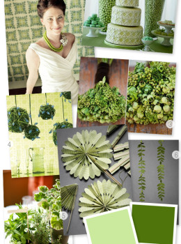 green wedding inspiration board