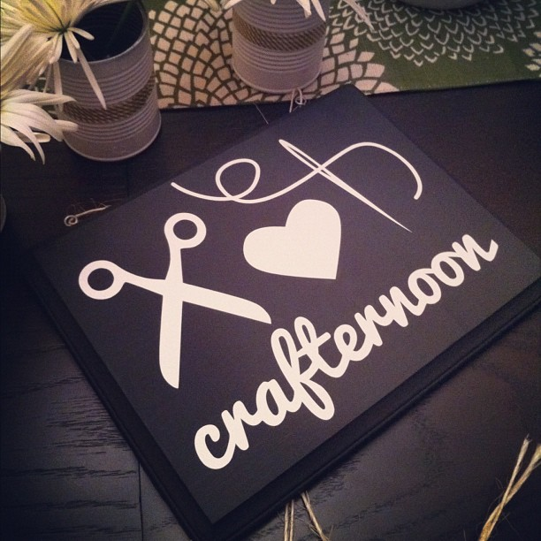 crafternoon die cut chalkboard sign