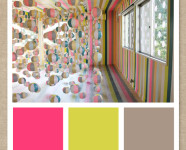 Pink, Gold and Gray Color Palette