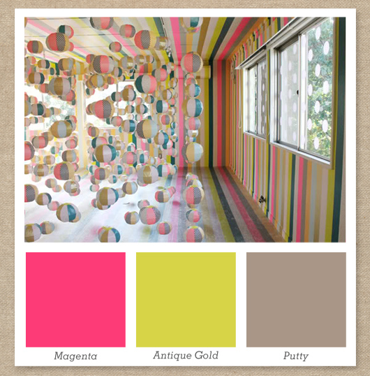 pink gold and gray color palette