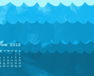 June 2012 Desktop, iPhone & iPad Calendar Wallpaper