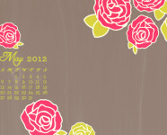 May 2012 Desktop, iPhone & iPad Calendar Wallpaper
