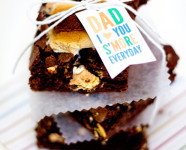 S'mores Brownies | Free Father's Day Printable Gift Tag
