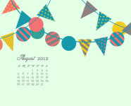 August 2012 Desktop, iPhone & iPad Calendar Wallpaper