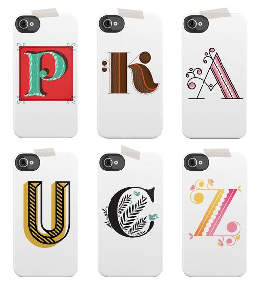initial jessica hische iphone and ipad cases