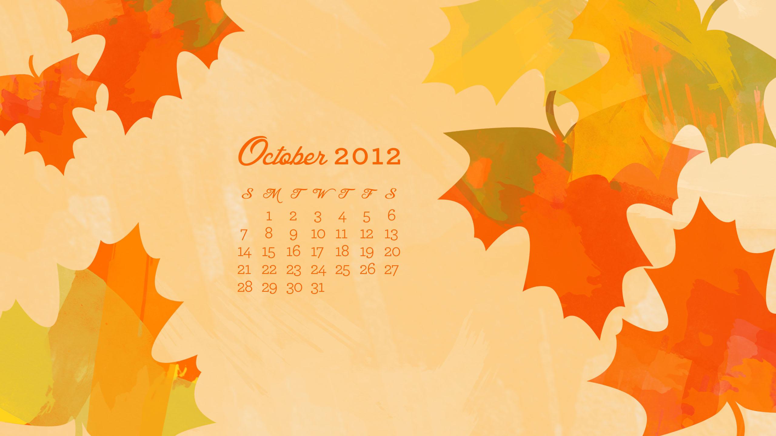 October Calendar Wallpaper Iphone : October desktop iphone ipad calendar wallpaper