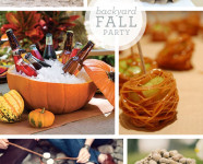 Backyard Fall Party Idea Board