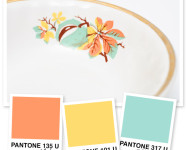 Orange, Yellow and Tiffany Blue Color Palette