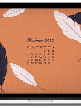november 2012 calendar feather - photo #2