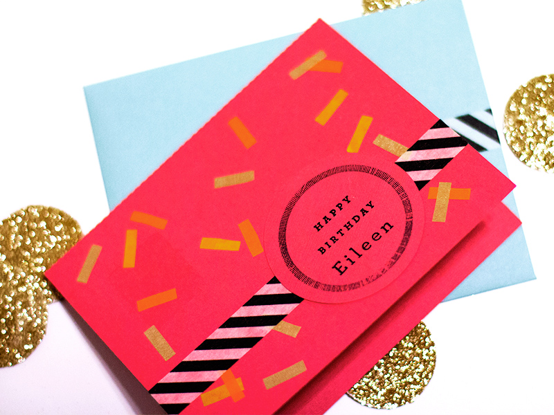 Washi tape birthday cards from Sarah Hearts