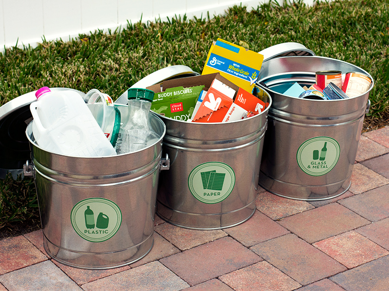 diy recycling bins