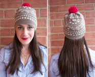 DIY Pom Pom Beanie Refashion by One Little Minute