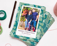 Floral Photo Christmas Cards